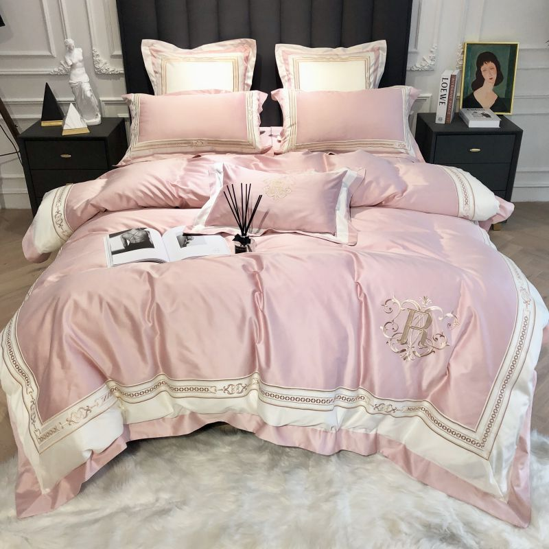 1000TC egyptian cotton Bedding sets Queen King size Classical Embroidery Bed Duvet cover Bed sheets linen set bed set