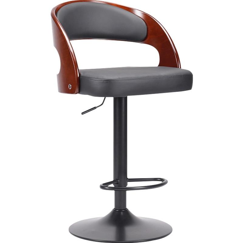 Bar Chair American High Stool Lifting Rotary Bar Chair Light Luxury Coffee Shop Front Desk Iron Bar Stool