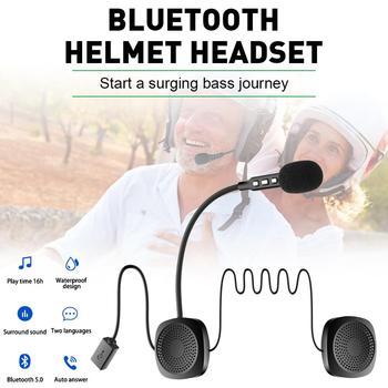 Bluetooth 5.0 Moto Helmet Headset Wireless Handsfree Stereo Earphone Motorcycle Helmet Headphones 16 Hours Music Time motorcycle helmet headset bluetooth 5 0 edr headphones microphone wireless handsfree stereo earphone mp3 call control