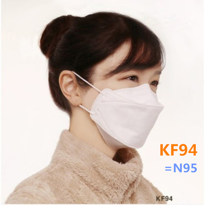 4 Layer Filter Mask KF94 PM2.5 Dustproof Anti Haze Protective Face Mask 94% Filtration Mouth Mask Breathable Against Droplet Dus