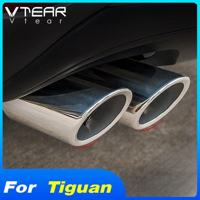 Vtear için Volkswagen VW Tiguan MK2 2020 2019 araba egzoz İpucu susturucu boruları kapak Trim paslanmaz çelik dış tamir aksesuarları
