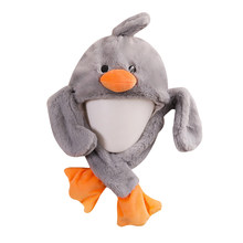 Children's Animal Toys Hat Rabbit Ears Moving Hat Airbag Cap Duck Hat Toy Cap(China)