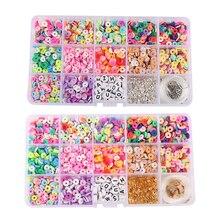 New 15 Grid Bohemian Beaded Toy DIY Soft Ceramic Flake Beads Gasket Making Bracelet Necklace Jewelry Kit Children