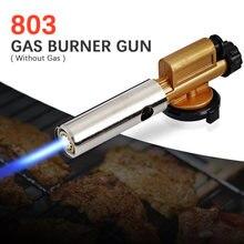 Butan Gas Brander Pistool Elektronische Ontsteking Koper Flame Maker Fakkel Voor Outdoor Camping Picknick Bbq Lasapparatuur 20Mm Nozzle
