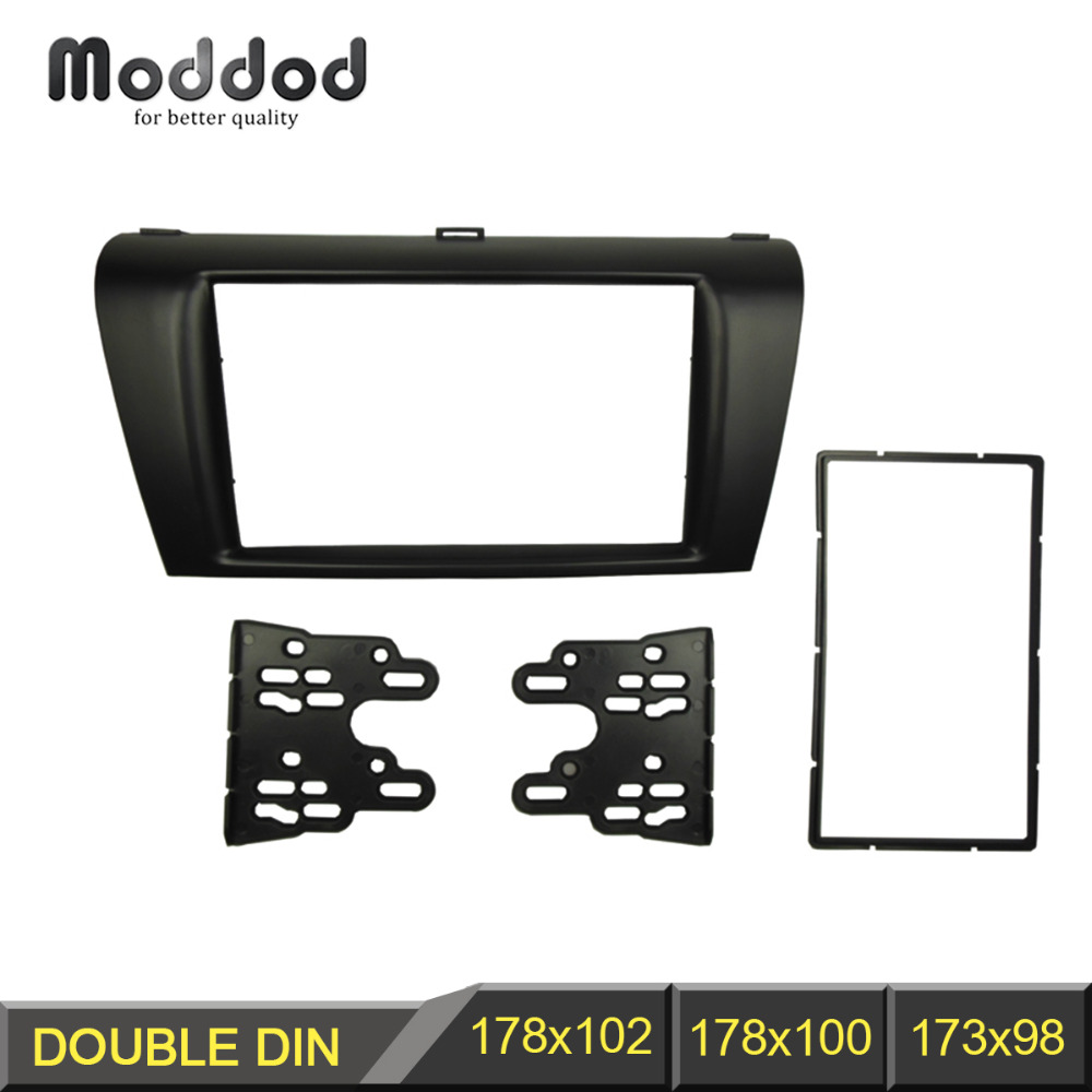 Stereopanel for Mazda 3 Axela Double Din Radio Fascia Refitting Dash Montering Montering Trim Kit Frame