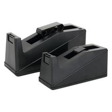 Desktop Adhesive Tape Dispenser Sealing Tapes Cutter Table Base Stand Holder