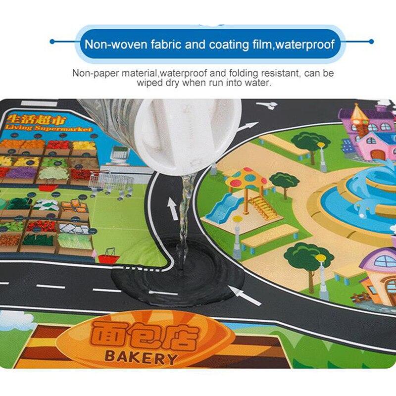 H8d48cbe49e5349a2ab2b7c187c3b194fD Large City Traffic Car Park Mat Play Kids Rug Developing Baby Crawling Mat Play Game Mat Toys Children Mat Playmat Puzzles ZXH