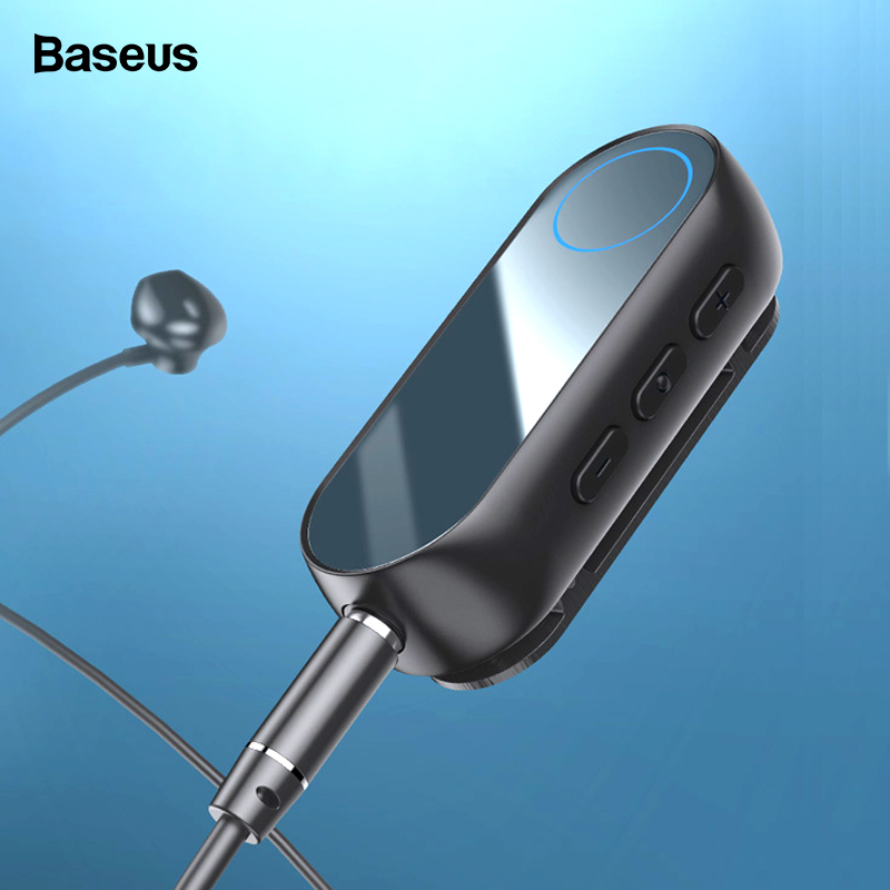Baseus Bluetooth 5.0 Receiver For 3.5mm Jack Earphone Headphone AUX Wireless Adapter Bluetooth Audio Music Receiver Transmitter