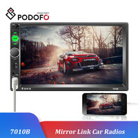 Podofo 2 Din 7 HD Car Multimedia Player Android Mirrorlink Autoradio 7010B Car Radio Bluetooth FM USB AUX TF Auto Audio Stereo