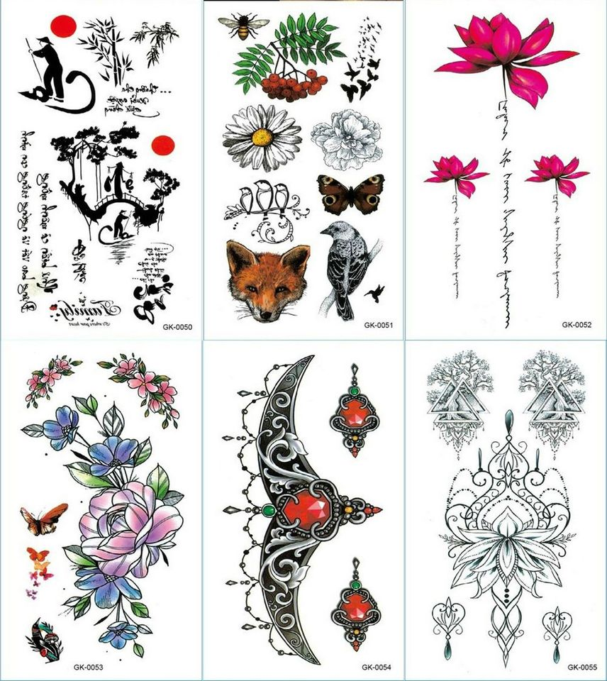 Butterfly Bird Ruby Underboob Jewelry Temporary Tattoos Butterfly Bee Wolf Fruit Sticker Body Body Art Waterproof Flower Tattoo Aliexpress