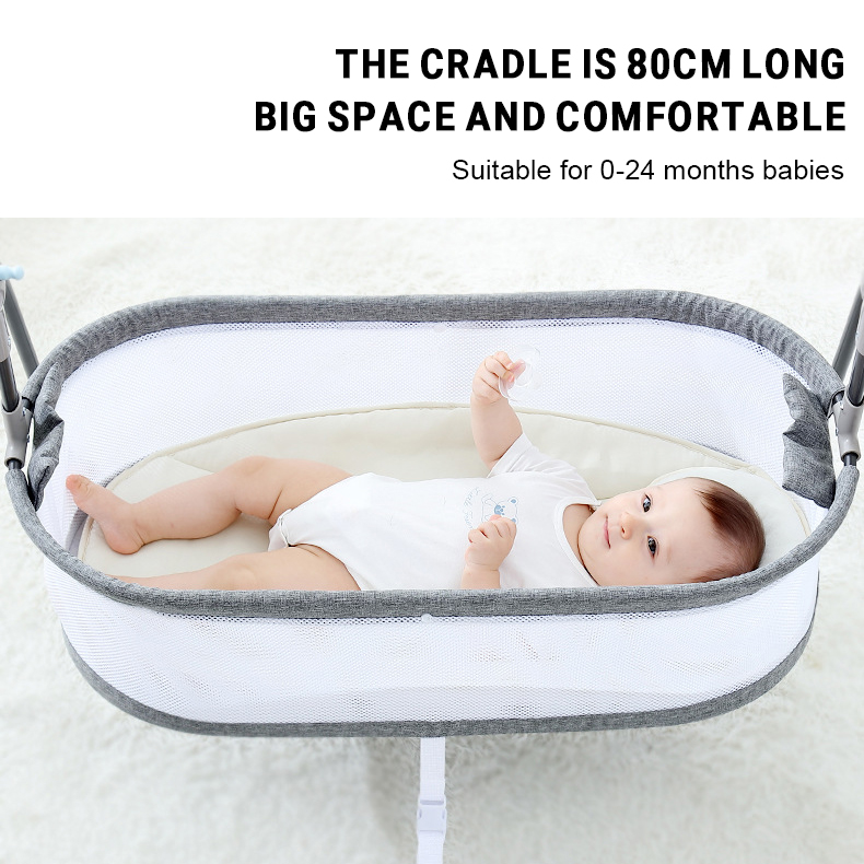 H8d48f04b8b444488a4d2400e387dd21fV Baby Electric Rocking Chair Swing Comforter Smart Placate Device Artifact Electric Cradle Trottie Nursling Bed Crib