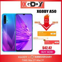 "XGODY A50 3G Smartphone 6.5 19:9 Android 9.0 1GB RAM 4GB ROM 5MP Camera Quad Core Dual SIM GPS WiFi Mobile Phones CellPhone"""