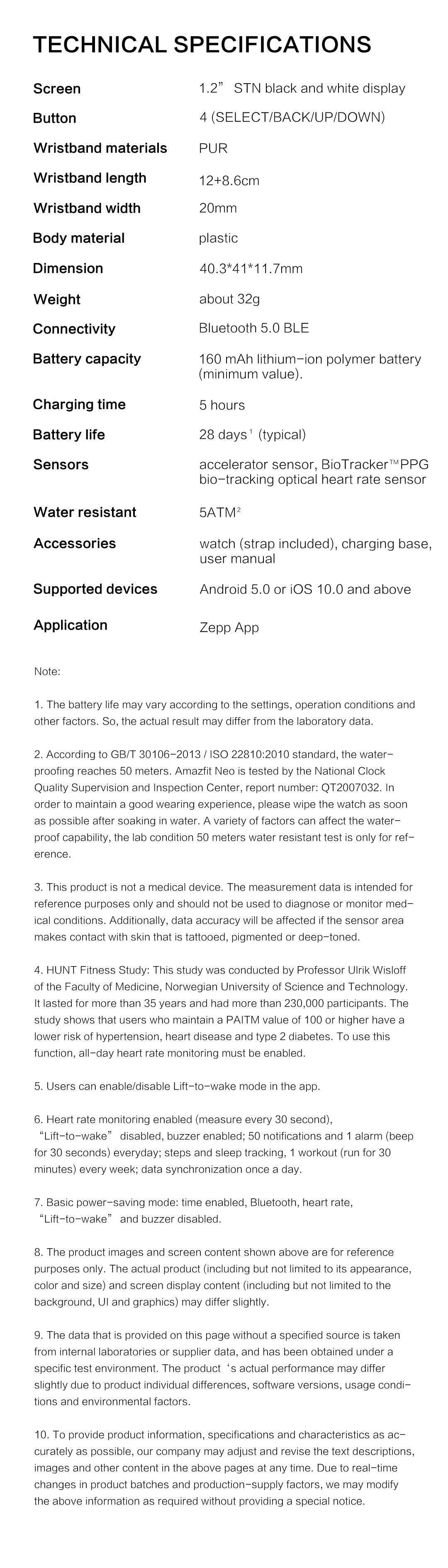 Amazfit Neo Bluetooth Smartwatch 9