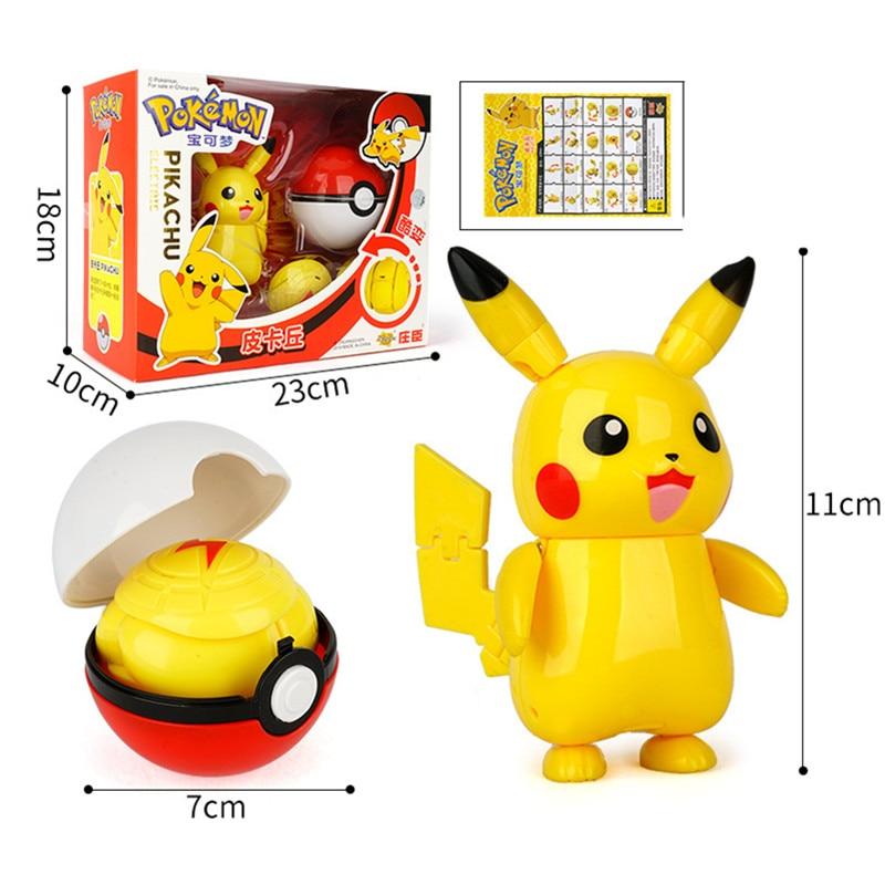 Pokemon Toys 13 Styles Toys Pikachu Charizard Mewtwo Action Figure Pokemon Game Poke Ball Model Anime Figure Kids Christmas Gift
