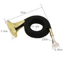 1 комплект золотой мини Латунь Bb охотничий рог подарок для детей начинающих студентов