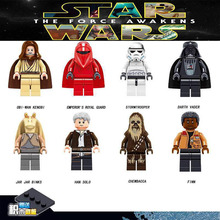 Legoed Star Wars Darth Vader Finn Jar Jar Binks Han Solo Model Building Blocks STARWARS Toys Legoingly DIY FigureS for Children star wars jedi chewbacca building blocks han solo darth vader legoing figures jango fett obi wan models toys for children bk37