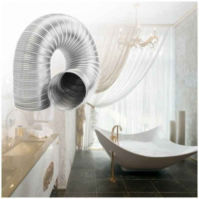 1m feuille d'aluminium salle de bains cuisine extracteur ventilateur et hotte tuyau de conduit Flexible, 125Mm