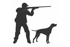 Dawasaru personalidade decalque jovem caçador com uma arma e um cão de caça etiqueta do carro caminhão motocicleta acessórios de automóvel pvc, 10cm * 10cm