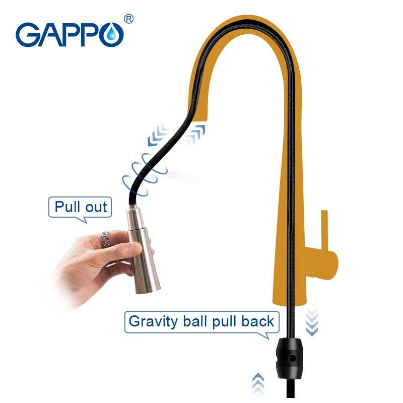 GAPPO сенсор Кухонные смесители Smart Touch Индуктивные чувствительные смесители Смеситель для воды кран с одной ручкой выдвижной Кухонные смесит... - 3