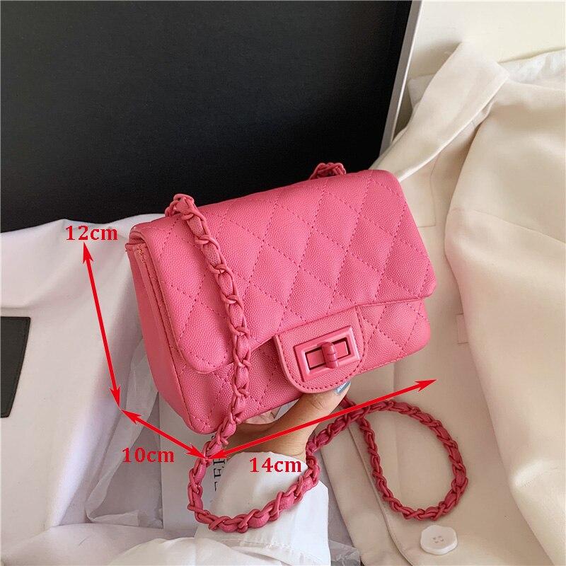2020 модные маленькие женские сумки-мессенджеры из искусственной кожи, Высококачественная женская сумка через плечо с цепочкой, роскошная ди...