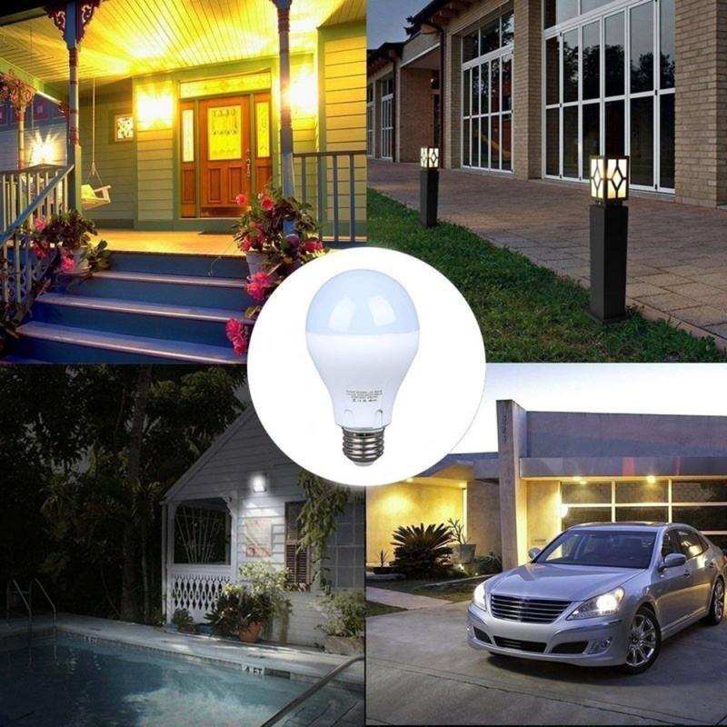 Светодиодная лампа E27 5 Вт/7 Вт/9 Вт/12 Вт с пассивным инфракрасным датчиком движения, автоматическая энергосберегающая лампа для внутреннего или наружного освещения, 1 шт.