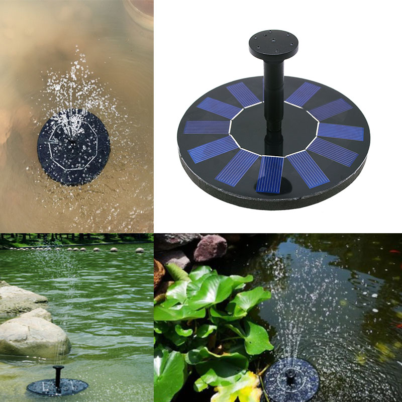Fountain Water Pump Floating Pond Decoration Solar Panel Powered Fountain Garden Pool Outdoor Water Pump Fountain