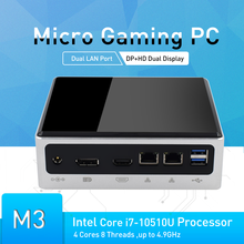 10TH Gen Gaming PC Computer i7 10510U 2 * DDR4 RAM m.2 SSD Typ-C SD 4K HTPC i5 8250U Windows 10 i7 8559U DP HDMI WIFI