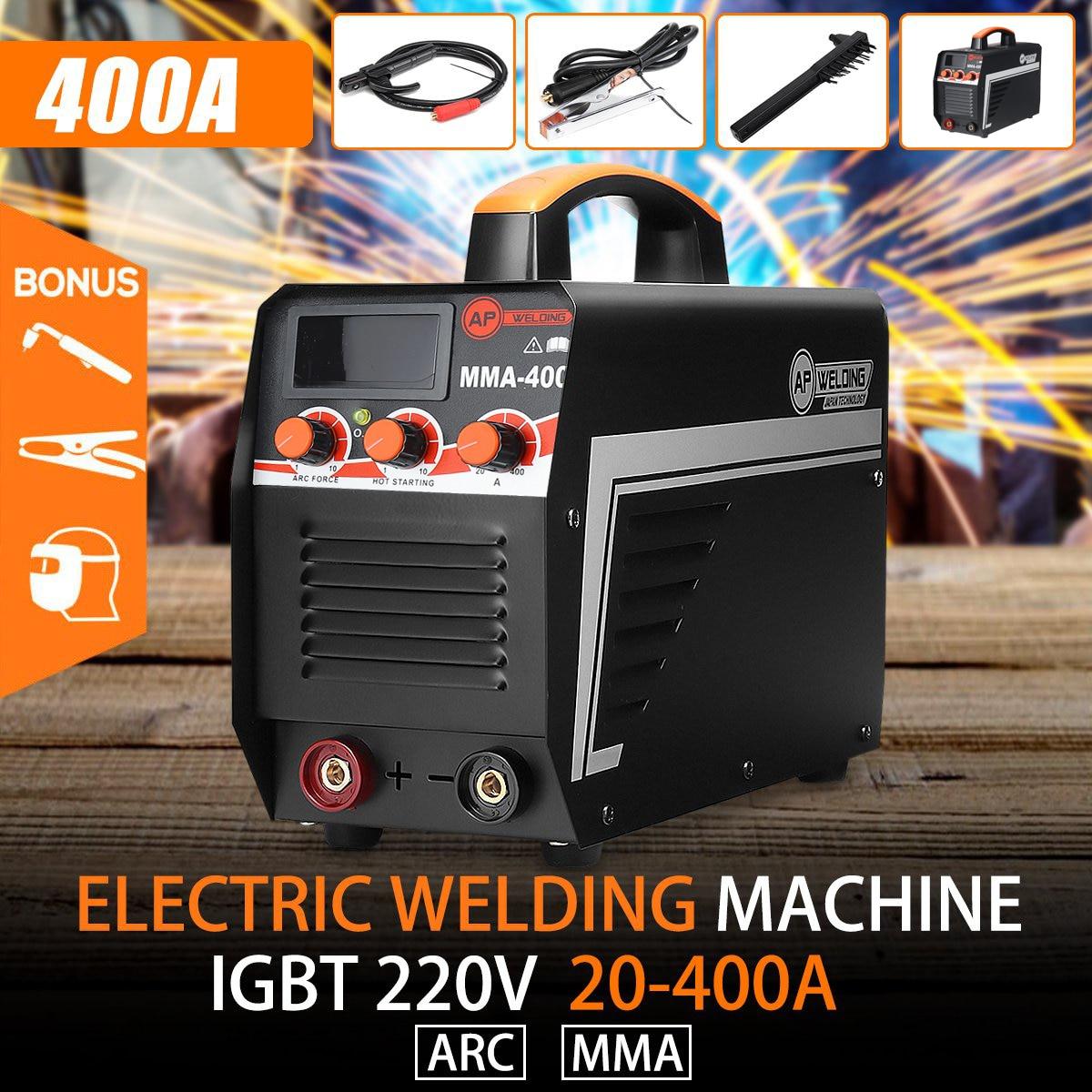 DIY 220V IGBT Digital Welding Working Arc MMA Stick Home Welding For Welders Machine 400 Arc Set New Inverter Display Electric