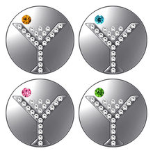 KZ3559 Beauty round Crystal cocktail 18MM snap buttons fit DIY 18MM snap bracelet snap jewelry Christmas Gift(China)