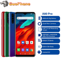Blackview A80 Pro Smartphone 4GB RAM 64GB ROM 6.49'' Waterdrop Helio P25 Octa Core Android 9.0 4680mAh 13.0MP 4G Mobile Phone