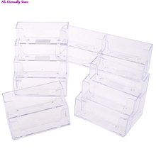 Desktop office business card holder transparent counter display stand accessory