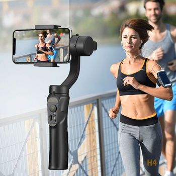 New H4 Smooth Handheld Smartphone Gimbal Stalilizer Portable for iPhone Andriod Mobile Phone DOM668