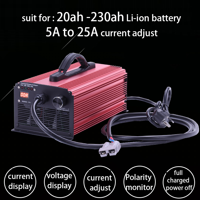 48V 54.6V 58.8V 60V 67.2V 72V 84V 88.2V Lithium Battery Charger 5A to 25A Li-ion Lifepo4 Fast Current Adjustable 16S 20S 21S 24S
