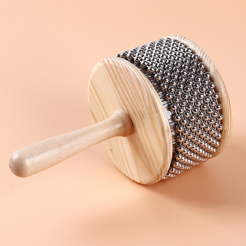 Hot Wooden Cabasa Percussion Band Student Children Kid Instrument Pop Hand Shaker Percussion
