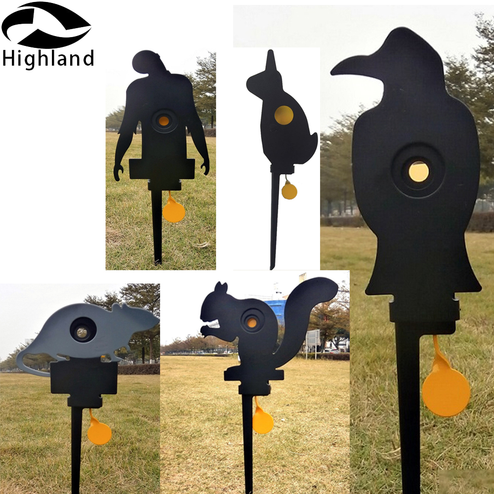 Crow Zombie Mouse Squirrel Rabbit Metal Auto-reset Knockdown Target Shooting Target For .177 Or .22 Or Paintball Shooting