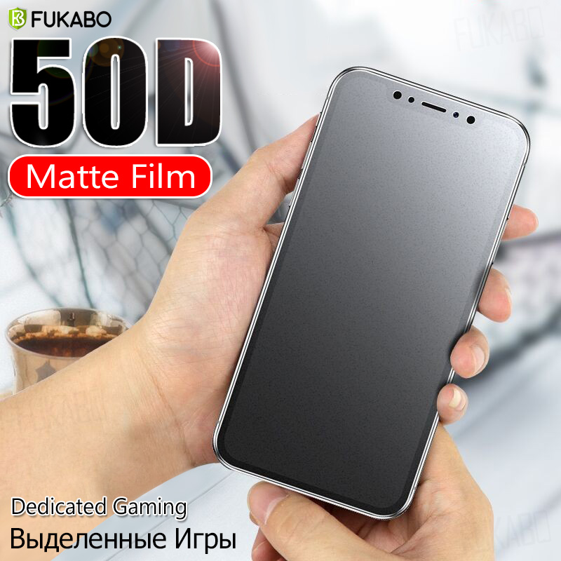 50D Full Cover Front & Back Hydrogel Film For IPhone 7 Plus 11 Pro XR XS Max Screen Protector For Iphone X 8 6 6s Plus Not Glass