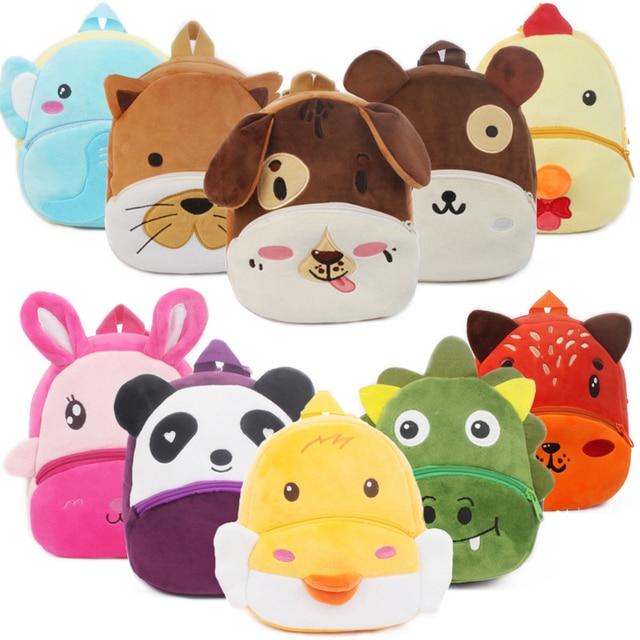 3D Cartoon Plush Children Backpacks Kindergarten School Bags for Baby Boys and Girls Backpacks Cute Animal Kids Backpack Bookbag