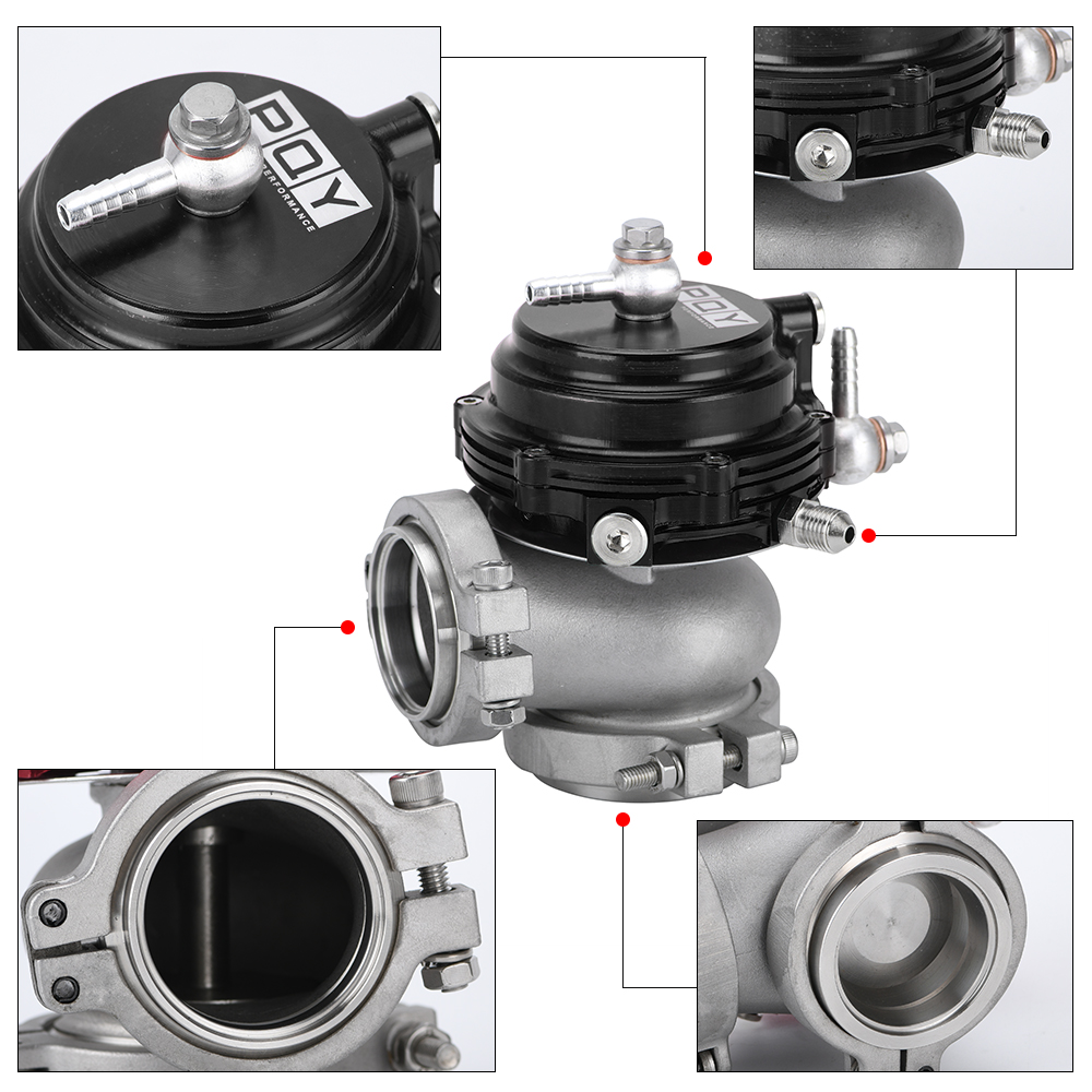 cheapest Water Cooler 44mm Wastegate External Turbo With Flange Hardware MV-R Water Cooled With Logo Red Blue Black PQY5834