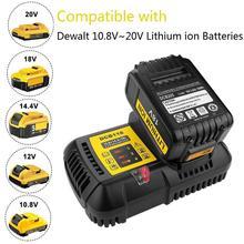 Fast Battery Charger 4.5A DCB118 DCB101 10.8V 12V 14.4V 20V Li-ion Replacement for Dewalt DCB205 DCB206 DCB203BT DCB204BT fast battery charger 4 5a dcb118 dcb101 10 8v 12v 14 4v 20v li ion replacement for dewalt dcb205 dcb206 dcb203bt dcb204bt