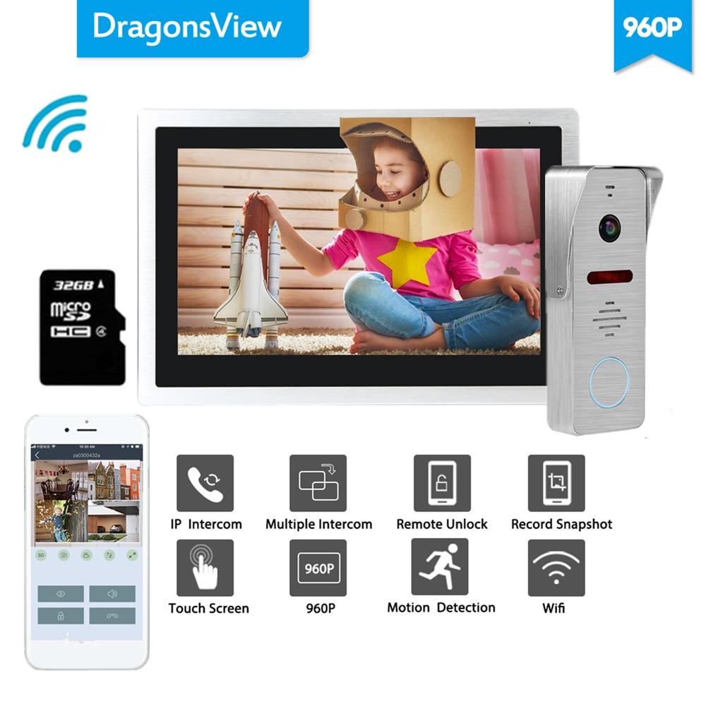 Dragonsview Wifi Doorbell Camera 960P Home Intercom Wifi Video Door Phone System Unlock Message Motion Record Waterproof