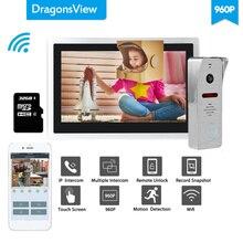 Dragonsview timbre con cámara Wifi 960P, portero automático para hogar, vídeo, sistema de teléfono de puerta, desbloqueo, Mensaje, registro de movimiento, resistente al agua