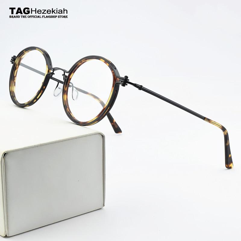 Brand Round Titanium Glasses Frame Men Spectacle Frames Myopia Eye Glasses Frames For Women Optical Glasses Frame Eyeglasses Men