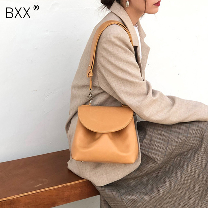 [BXX] Small Crossbody Bags For Women 2020 Brand Designer Solid Color Simple Shoulder Messenger Bag Lady Travel Handbags HJ348