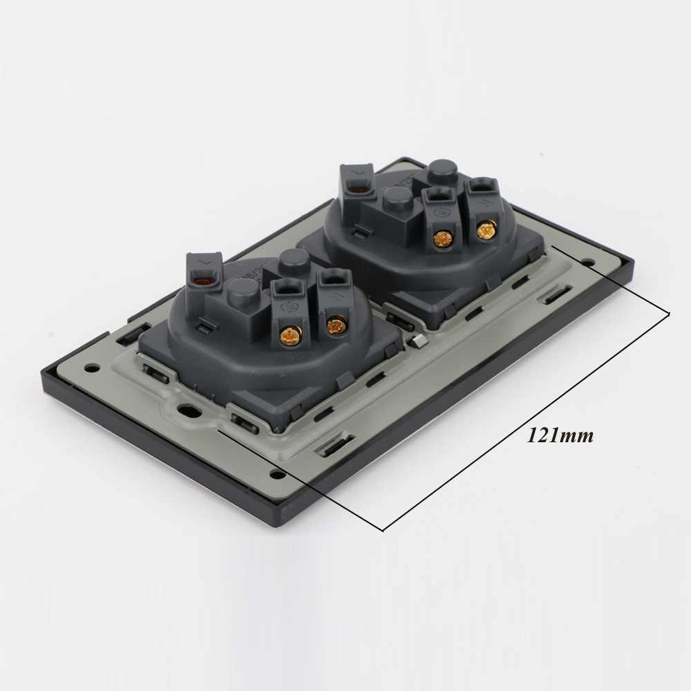 Eu Dubbele Ac Stopcontact Socket Schuko, Schuko Panel, 16A Eu Standaard Stopcontact