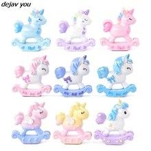 New Cute Cartoon Unicorn Girl Toy Birthday Party Decor Love Trojan Horse Baby Shower Dessert Love Gifts