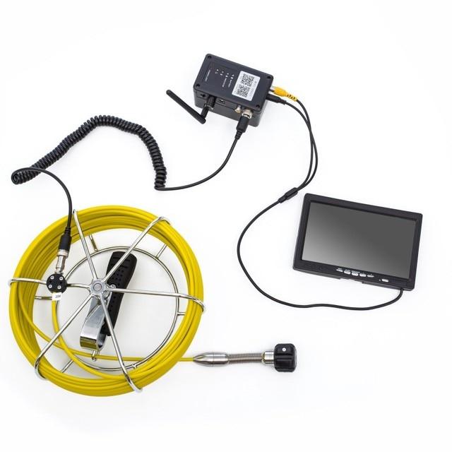 WP70 sans fil endoscope vision nocturne longue batterie WIFI 7 endoscope caméra avec boîte en aluminium IP68 étanche 20/30/50 câble