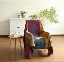 Богемное клетчатое покрывало для дивана дома гостиной Современное