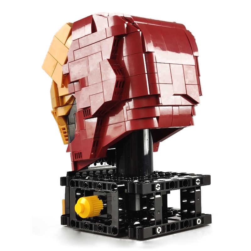 768 adet fikirleri Robot ütülenmiş adam teknik büstü yapı taşları Marveled süper kahraman tuğla seti ışık ile çocuklar çocuk oyuncakları hediyeler