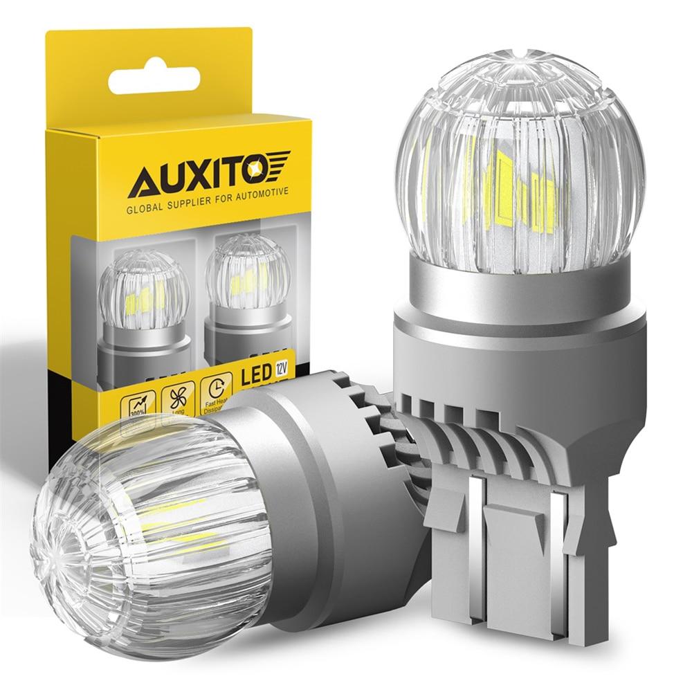 AUXITO 2 шт. W21/5 Вт светодиодный лампы Белый Красный 3030SMD T20 7443 7440 W21W светодиодный светильник/оборудование для нанесения покрытия стоп Парковка светильник ДХО фар дальнего света 12V|Сигнальная лампа|   | АлиЭкспресс
