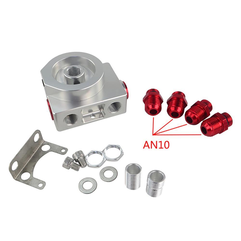 LZONE-filtre à huile Sandwich adaptateur avec filtre à huile bloc à distance avec Thermostat 1xAN8 4xAN6/AN8/AN10 JR5675 - 2